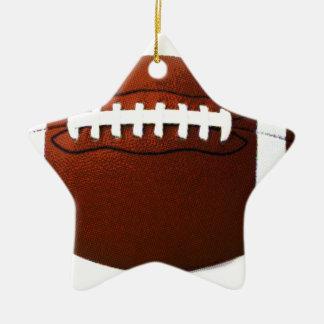 Retro Football Ceramic Ornament