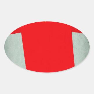 Retro Football Jersey Belgium Oval Sticker