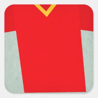 Retro Football Jersey Belgium Square Sticker