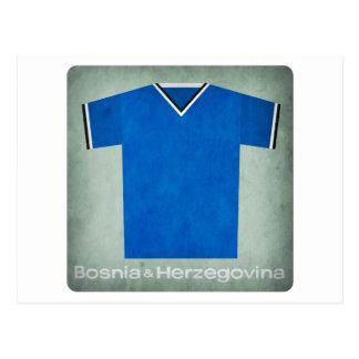 Retro Football Jersey Bosnia Herzegovina Postcard