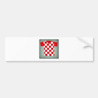 Retro Football Jersey Croatia Bumper Sticker