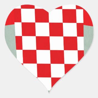 Retro Football Jersey Croatia Heart Sticker