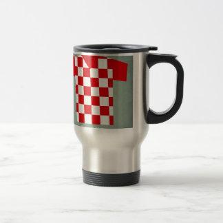 Retro Football Jersey Croatia Travel Mug