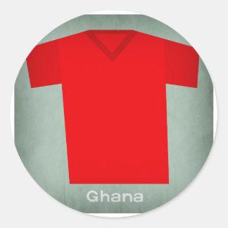 Retro Football Jersey Ghana Classic Round Sticker