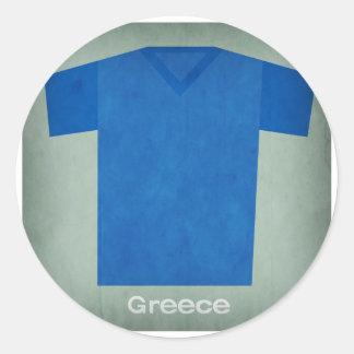Retro Football Jersey Greece Classic Round Sticker