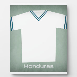Retro Football Jersey Honduras Photo Plaque