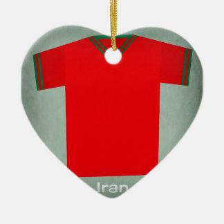 Retro Football Jersey Iran Ceramic Ornament