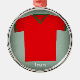 Retro Football Jersey Iran Metal Ornament