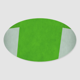 Retro Football Jersey Nigeria Oval Sticker
