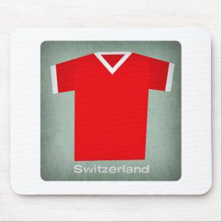 Retro Football Jersey Switzerland Mouse Pad