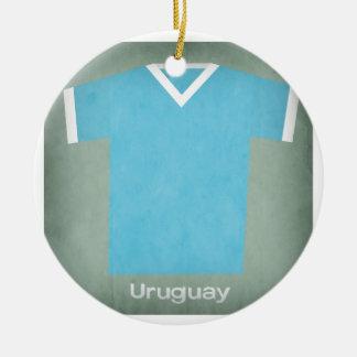 Retro Football Jersey Uruguay Ceramic Ornament