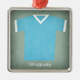 Retro Football Jersey Uruguay Metal Ornament
