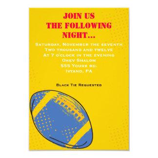 Retro FOOTBALL Themed Bar Bat Mitzvah Party card Invitations