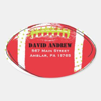 Retro Football Themed Bar Bat Mitzvah Sticker Seal