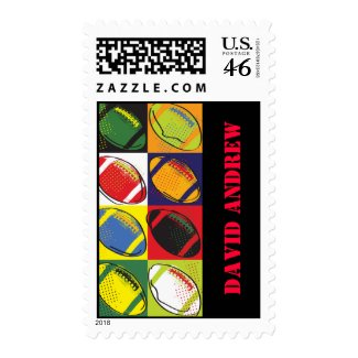Retro FOOTBALL Themed Postage Stamp