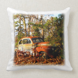 Retro Forties Orange and Yellow Junk YardCoupe Pillows