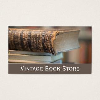 Retro, foto de la librería del vintage - tarjeta