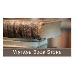 Retro, foto de la librería del vintage - tarjeta d tarjeta de visita