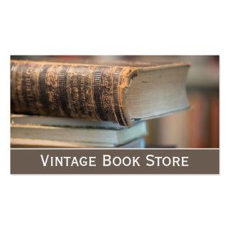 Retro, foto de la librería del vintage - tarjeta d tarjetas de visita