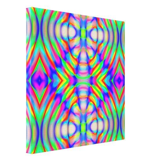 retro, fractal, caleidoscopio, psicodélico, impresiones en lona
