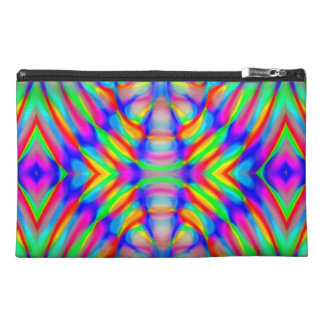 retro,fractal,kaleidoscope,psychedelic,PSYCHEDELIA Travel Accessories Bags