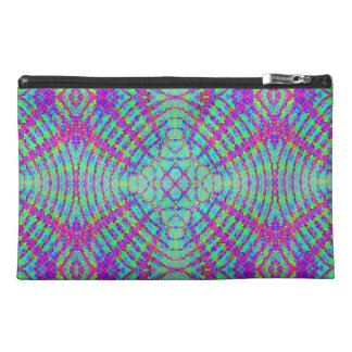 retro,fractal,kaleidoscope,psychedelic,PSYCHEDELIA Travel Accessories Bag