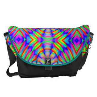 retro,fractal,kaleidoscope,psychedelic,PSYCHEDELIA Courier Bag