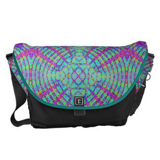 retro,fractal,kaleidoscope,psychedelic,PSYCHEDELIA Messenger Bag