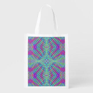 retro,fractal,kaleidoscope,psychedelic,PSYCHEDELIA Market Totes