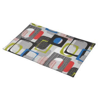 Retro Framed Gray Cloth Placemat