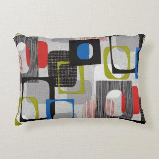 Retro Framed Gray Decorative Pillow