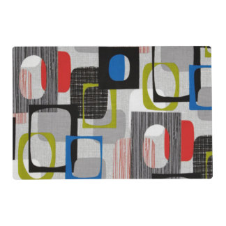 Retro Framed Gray Placemat