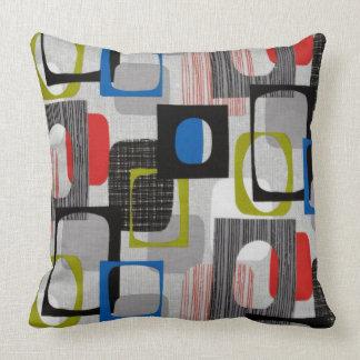 Retro Framed Gray Throw Pillow