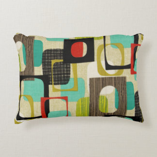 Retro Framed Tan Decorative Pillow