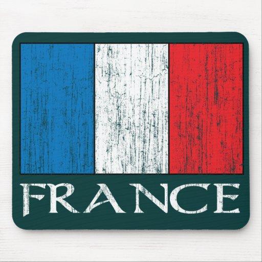 Retro France Flag mousepad
