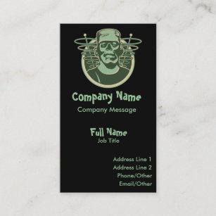 Messages business cards zazzle retro frankenstein business card colourmoves