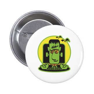 retro frankenstein design pinback button
