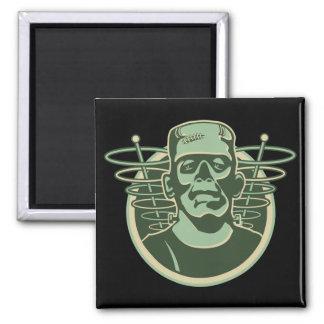Retro Frankenstein 2 Inch Square Magnet