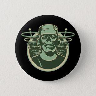 Retro Frankenstein Pinback Button