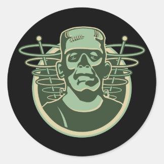 Retro Frankenstein Round Sticker