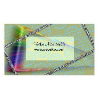 Retro Free Spirit Business Profile Card Business Card Template