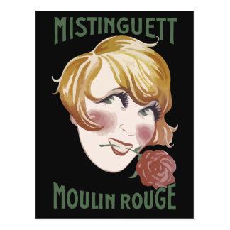 Retro French 1920s style Mistinguett Postcard