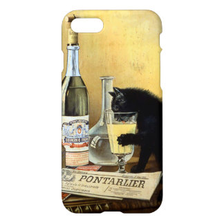"Retro french ""absinthe bourgeois"" iPhone 7 case"