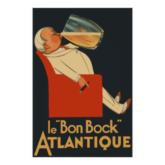 Retro French beer ad Le Bon Bock Posters