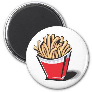 retro french fries design 2 inch round magnet