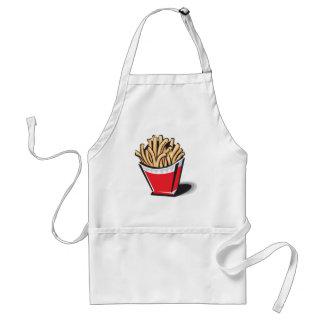 retro french fries design adult apron