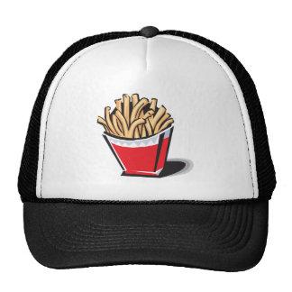 retro french fries design mesh hats