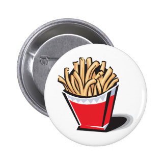 retro french fries design pinback button