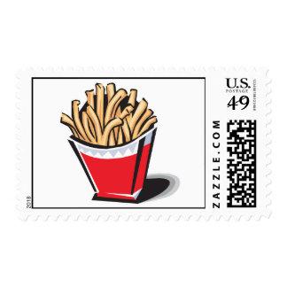 retro french fries design postage