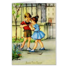 Retro French Mother Birthday Greeting Card